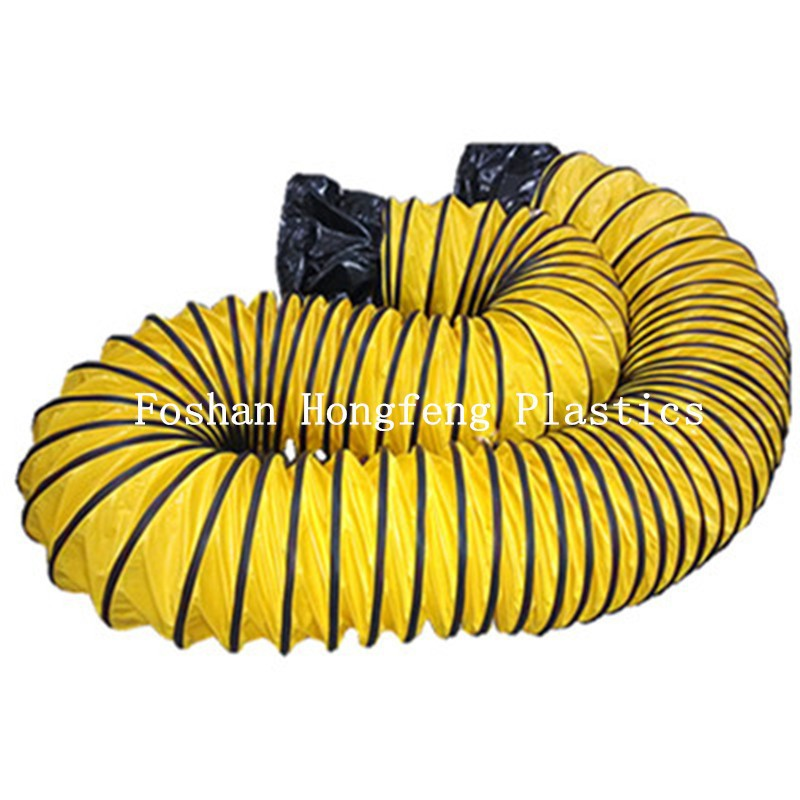 pvc flexible air duct/exhaust pipe benders for sales/high temperature resistant round flexible duct
