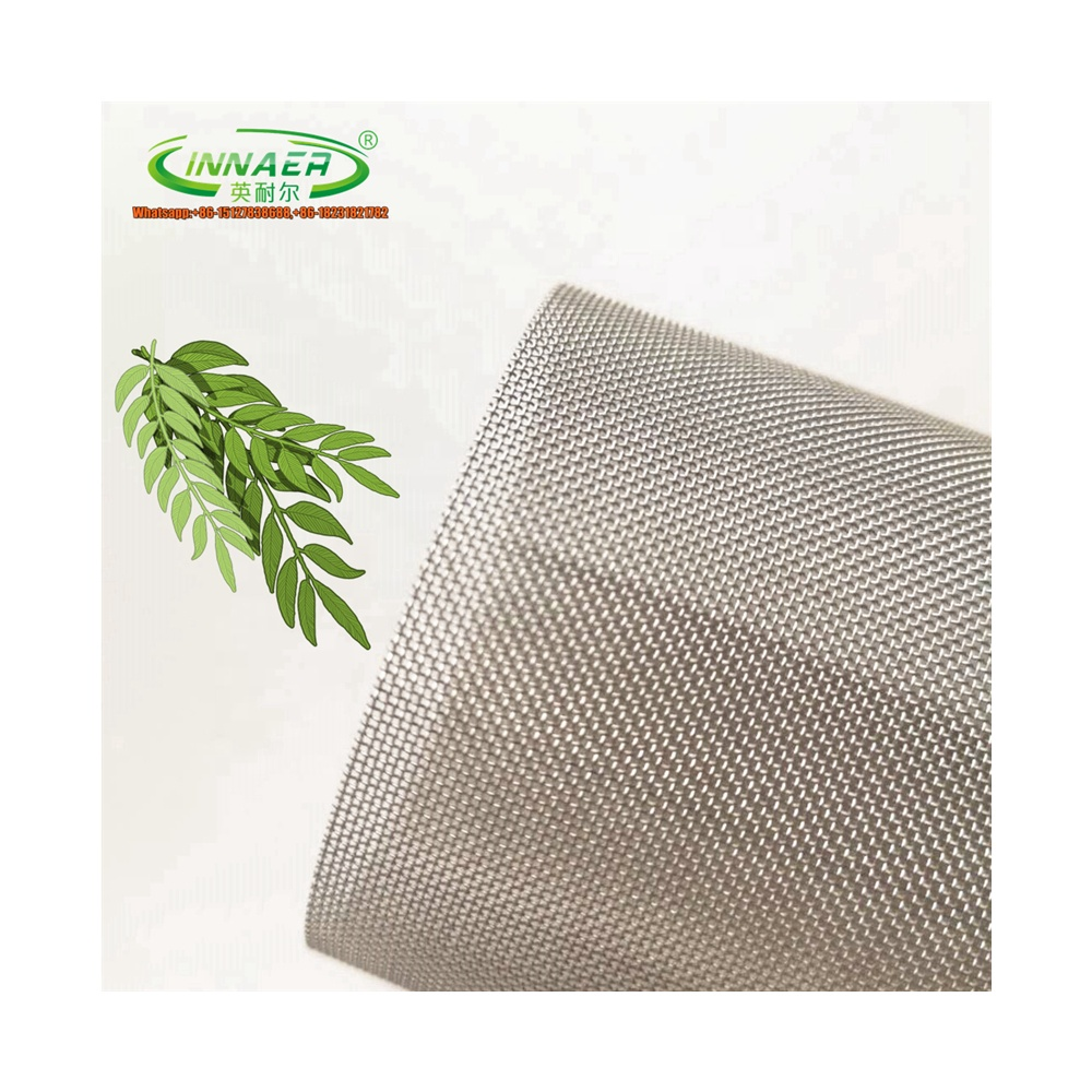 SS 304 316L verminderen zonnewarmte rvs fly proof window screen mesh