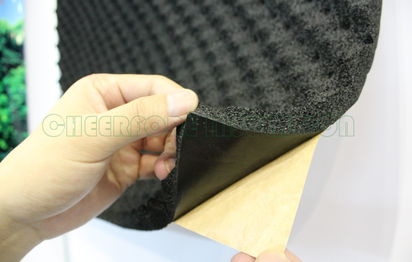 Egg Shape Foam Self Adhesive Backed Acoustic Insulation