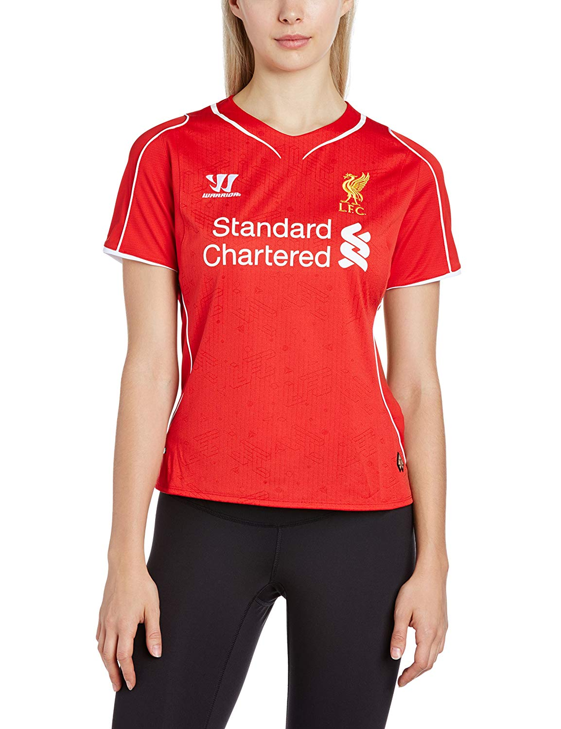a910e47f0 Get Quotations · Warrior Liverpool FC Home Ladies Short Sleeve Jersey (Red)