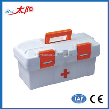Medical First Aid Kit Home Use Portable Plastic Storage Box