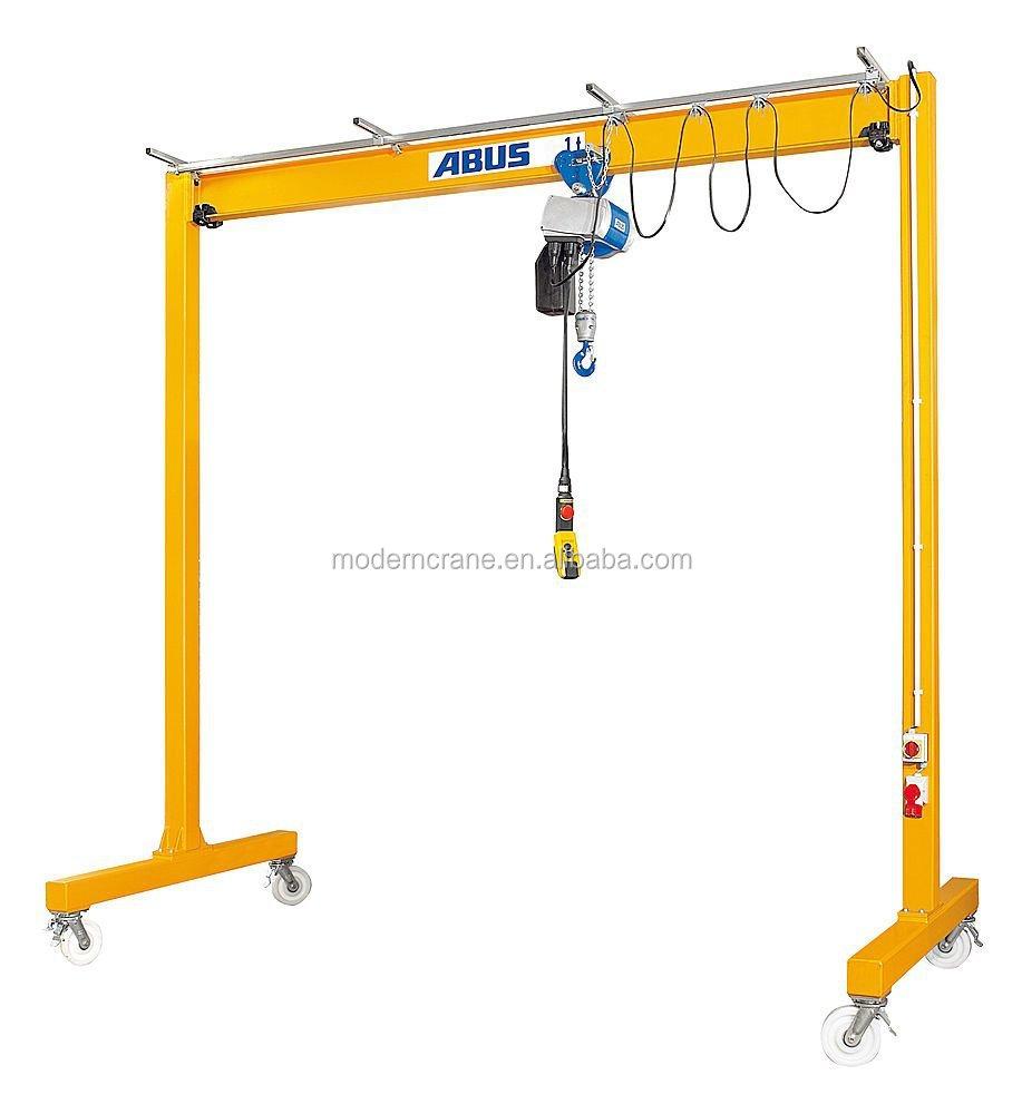 Manual gantry crane : Ton portable mini gantry crane with cheap price
