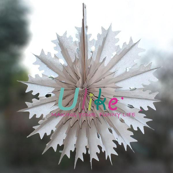 Decorate Your Own Paper Fans Xmas Snowflake Decor Fan