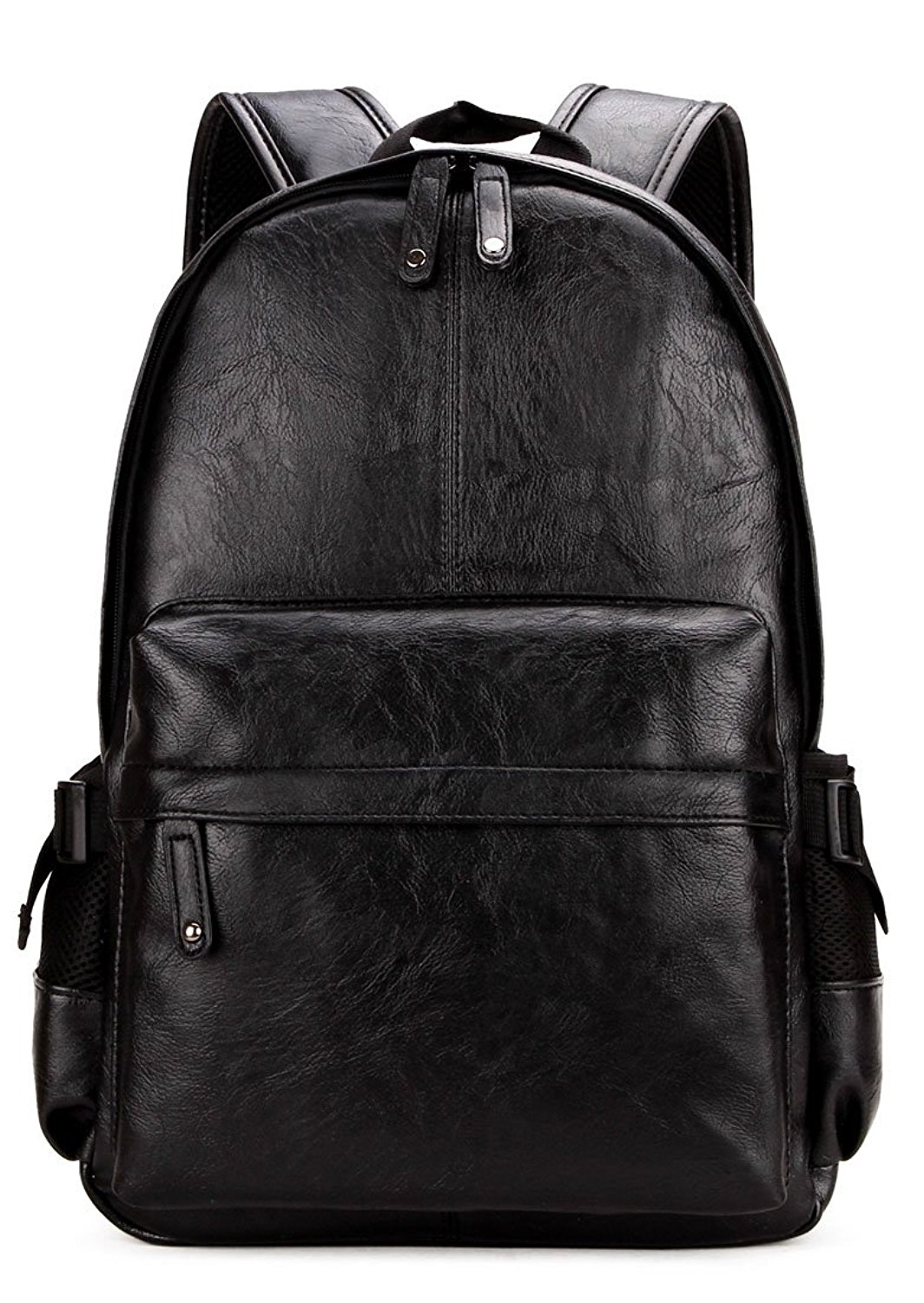 b31e613fae Get Quotations · Kenox Vintage PU Leather Backpack School College Bookbag  Laptop Computer Backpack