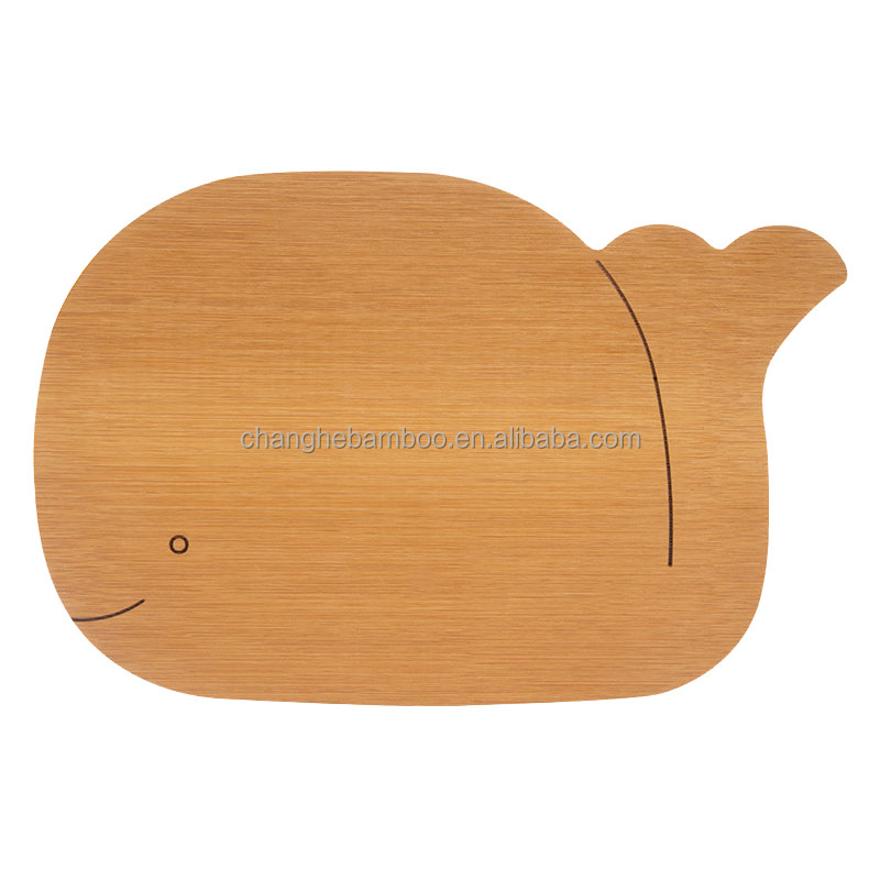 100% Food Grade Lovely Cartoon Shape Bamboo Cutting Board/ Bamboo Chopping Block for Kid