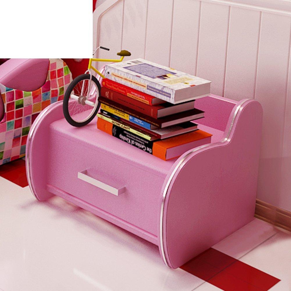 FJIWDTGYHFGT Drawer tall nightstand,Modern kids bedroom leather nightstand,Stylish & Simple bedside storage sleep bedside table-A 43x43x42cm(17x17x17inch)