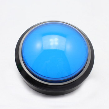China best sale large red white blue illuminated arcade buttons