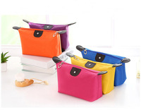 Multifunction suitable capacity nylon cosmetic bag, cute color cosmetic packaging, soft protect cosmetic pouch