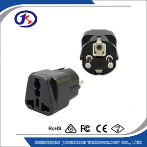 plug adapter USA US to EU Europe AC wall plug travel adapter