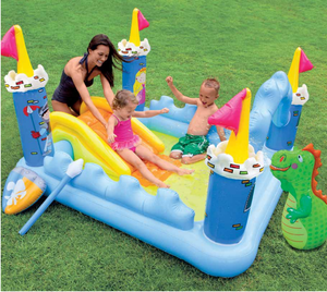 Intex 57138 Fantasy Castle Play Center Pool Inflatable Garden Water Play Pool Outdoor