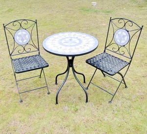 outdoor mosaic table chairs Home Trends Patio Furniture