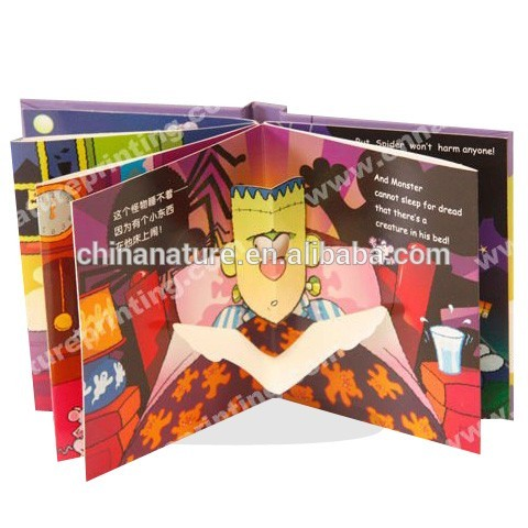 Hangzhou Nature High Quality Custom Chidren Hardcover 3D Pop-up Story Book Printing