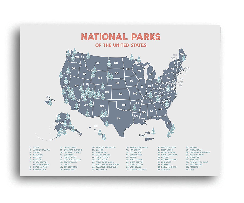 National Park Wall Decor, National Park Poster, America Camping, National Park Posters, Support National Park Service, Travel Decor, National Parks, National Parks Map, Travel Map, Poster Room Decor