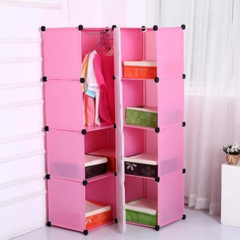 Commercial Office Furniture Pink Plastic Space Saving File Cabinet