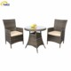 China factory villa patio outdoor woven wicker dining set