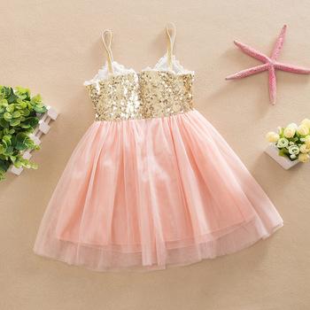 3ea7e45f0551 Baby Girls Lace Tutu Dress Girl Formal Sequin Skirt Summer Fancy ...