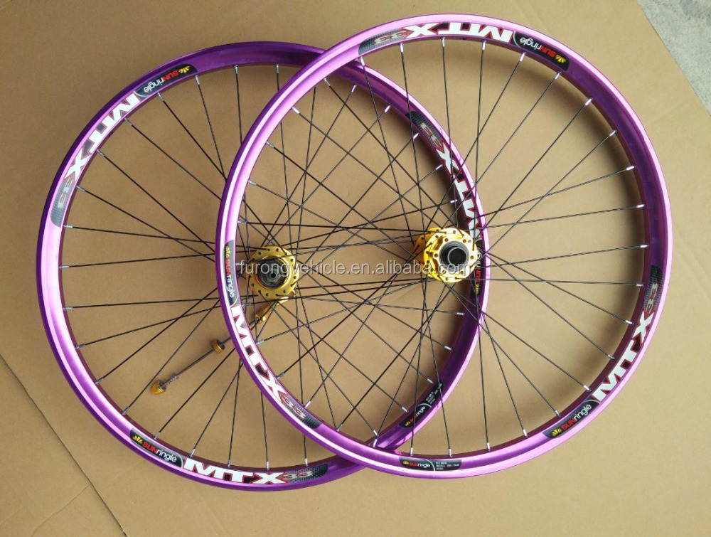 32 Holes bike wheel 26 inch26/27.5/29er 4 colors rims 29er downhill bicycle wheels for DH/AM
