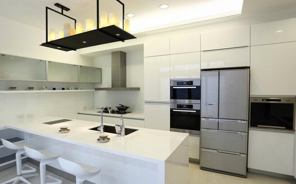 Moderno Alto Brillo Lacado Blanco Gabinete De Cocina Para La Venta ...