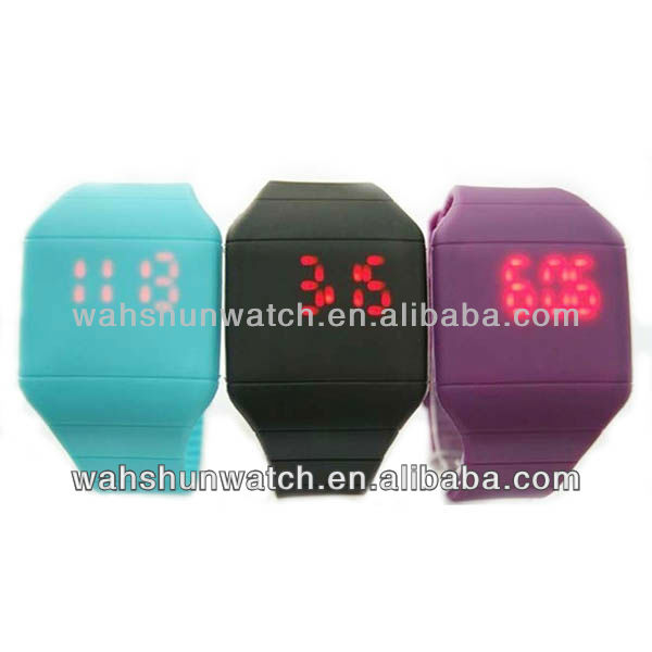 silicone led watch unisex fashion wristwatch with touch screen