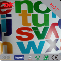 PVC adhesive Letter combination sticker alphabet wall decal