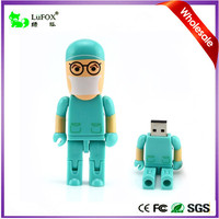 Electronic Product High Speed Surgeon Robot Doctor Shaped 8GB Write Protect USB Flash Drive