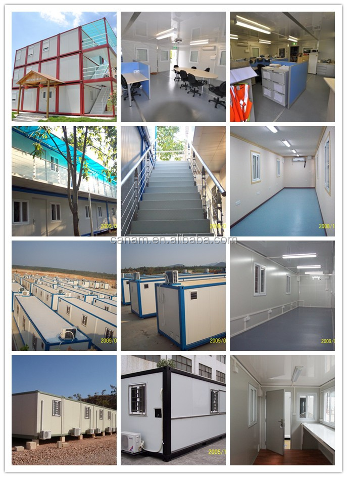 Container frame flat prefabricated steel house