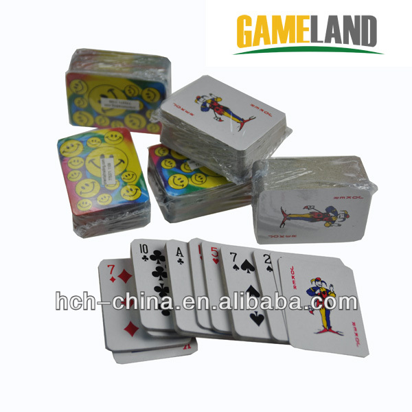 Mini Paper Playing Card Game