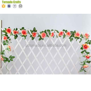 Artificial bougainvillea garlands DIY Rose Flower Vines wall hanging Wedding Decoration Artificial plants Plastic flower Rattan