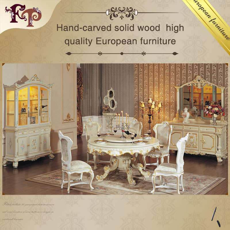 Classic Luxury Wooden Dining Room Set, Classic Luxury Wooden ...