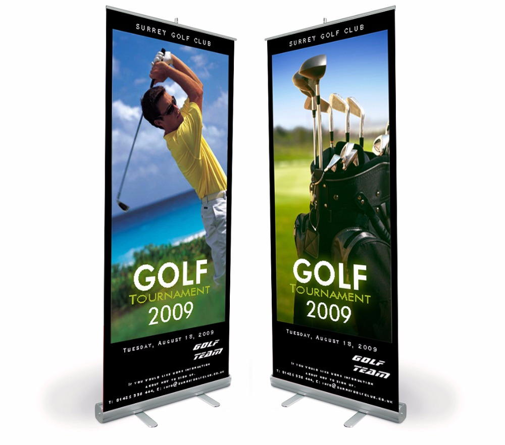 Roll up banner signs per la fiera, retrattile banner, Roll up pop up display banner kit