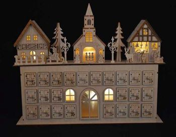 Custom Christmas Village Light Led City House Scene Wood Carving Christmas Battery Operated Decoration Lights Buy Led Christmas Lights Battery