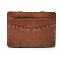 wg-151125 yiwu factory Magic leather money clip credit card holder ID business men's wallet