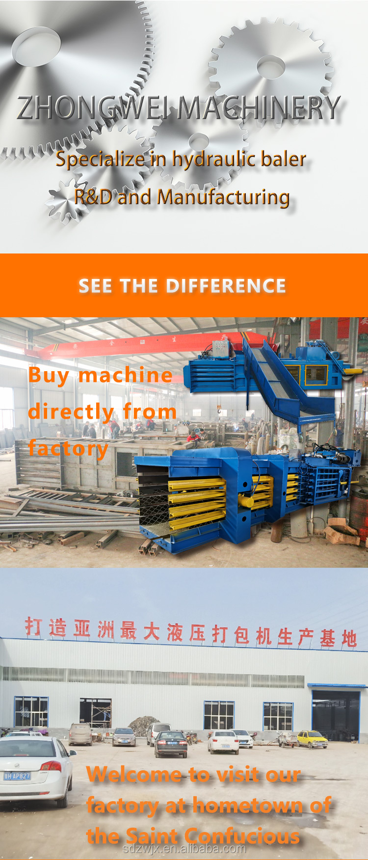 automatic corrugated cardboard box slotting waste paper baler machine for hydraulic vertical waste paper/plastic/cardboard baler