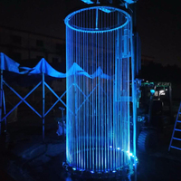 Customize Led Decorative Rain String Water Curtain Fountains Indoor Waterfalls For Homes