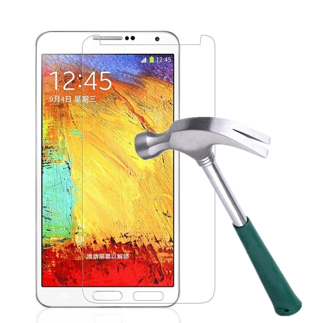 Galaxy Note 3 Screen Protector,TANTEK [Bubble-Free][HD-Clear][Anti-Scratch][Anti-Glare][Anti-Fingerprint] Premium Tempered Glass Screen Protector for Samsung Galaxy Note 3,[Lifetime Warranty]-[1Pack]