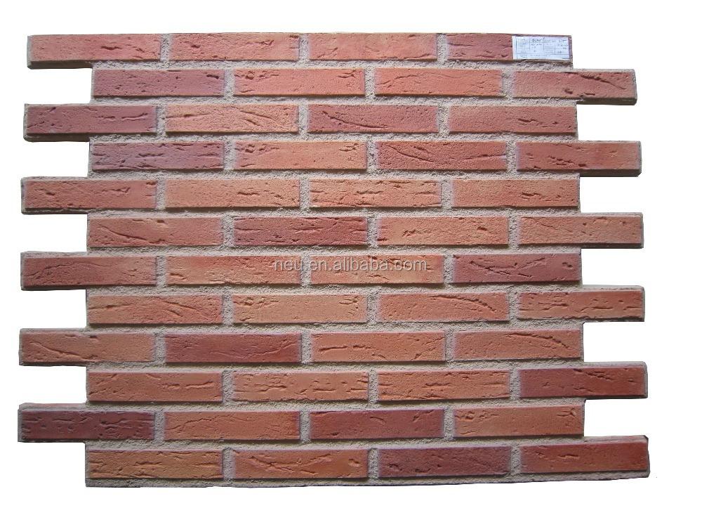 Interior exterior fake brick siding panels buy fake brick siding panels fake artificial brick - Fake brick skirting ...