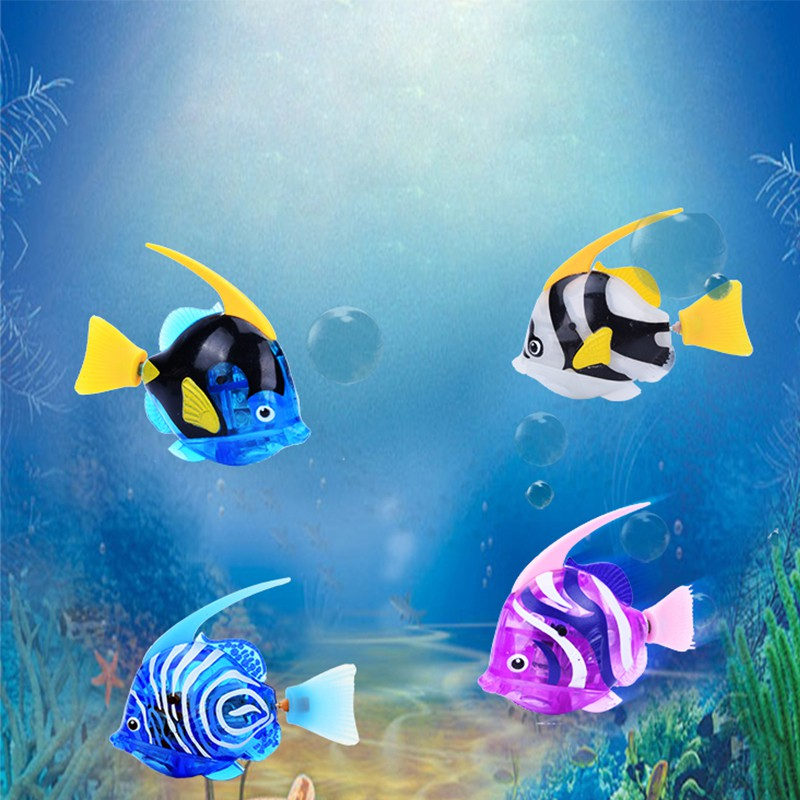 Luminous Electric Fish Robots Swimming Electronic Energy Ornamental Fish For Aquarium Decoration