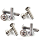 3mm M3 A2 STAINLESS STEEL FLANGED BUTTON HEAD ALLEN KEY BOLTS HEX SOCKET SCREWS
