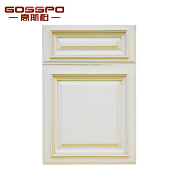 American Classical White Shaker Door Style Design Carved wood Kitchen Cabinet doors