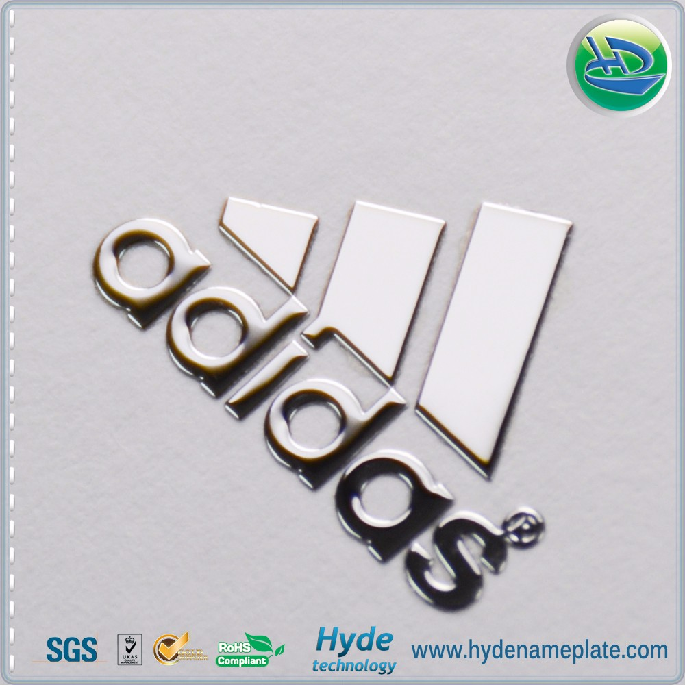 Thin Metal Letters Custom Design Decorative Thin Metal Letters Sticker Bluetooth