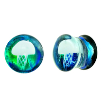 Toposhbodyjewelry Dichroic Glass Ear Plug Body Piercing PLG025