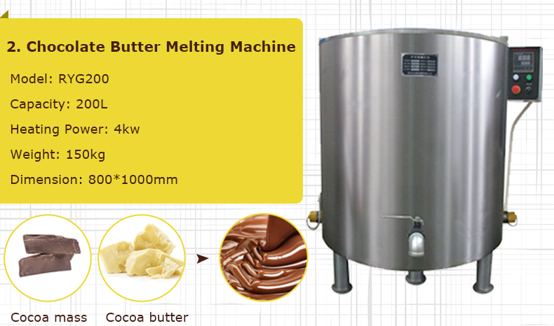 Automatic Chocolate Candy Making Small Chocolate Production Line