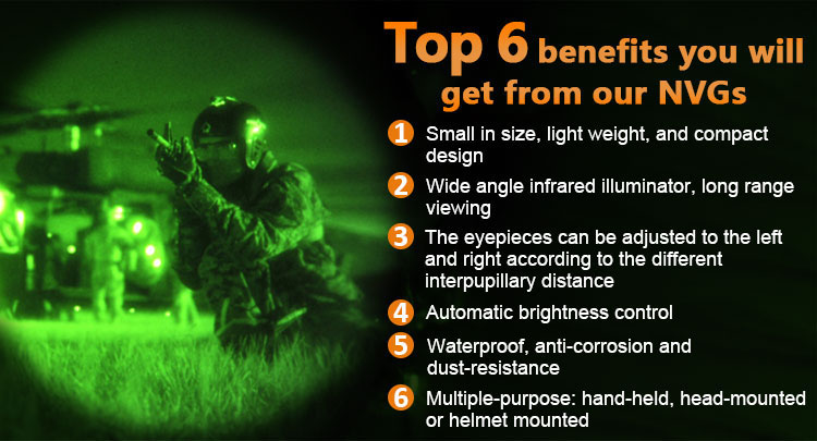 Infrared night vision PVS14 military goggles