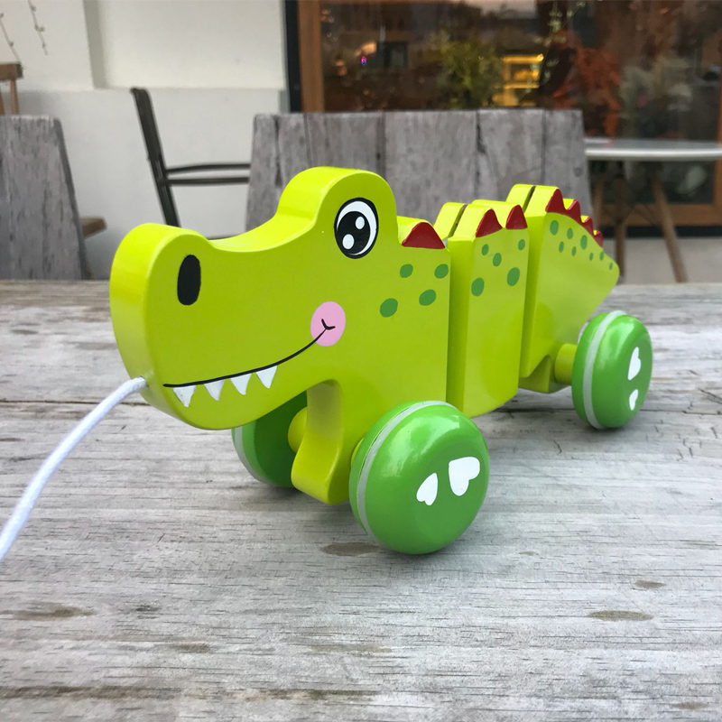 wooden pull along toys for kids