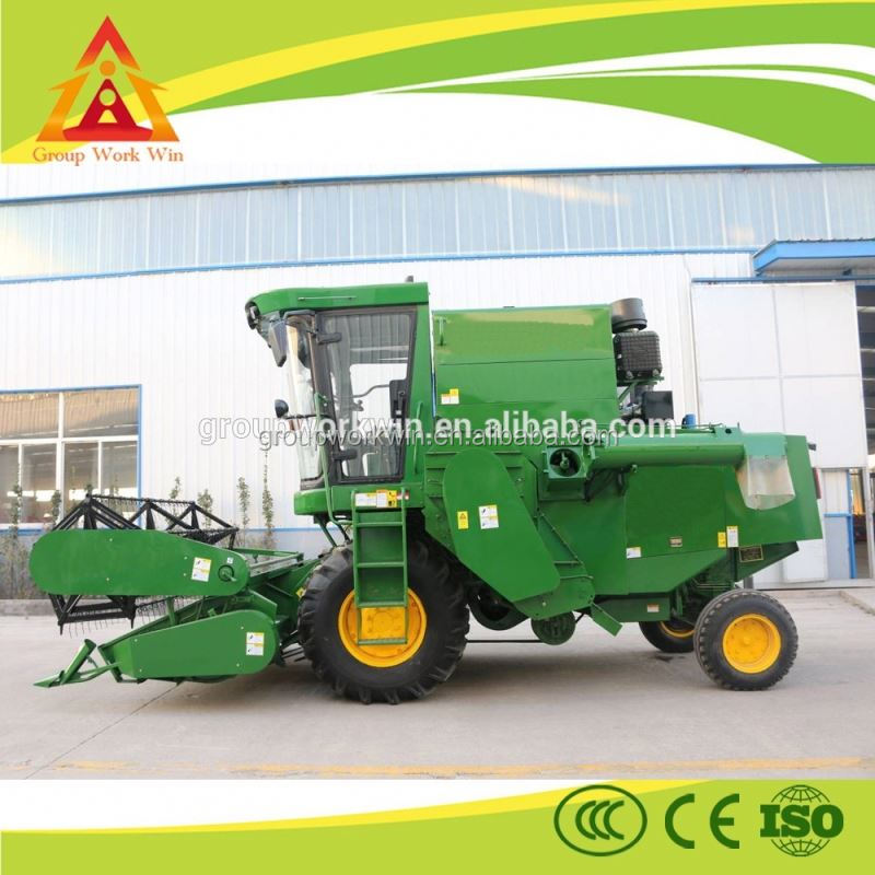 2016 high quality factory price havester Multifunctional mini rice wheat grain combine harvester