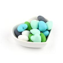 TYRY.HU 20 шт пищевого силикона сердце бусины BPA бесплатно детские игрушки для ухода за ребенком инструменты для ожерелья Детские Прорезыватели...(Китай)