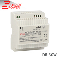 DR-30-12 plastic enclosure din rail power supply with voltage test terminal variable current led driver 30 watt