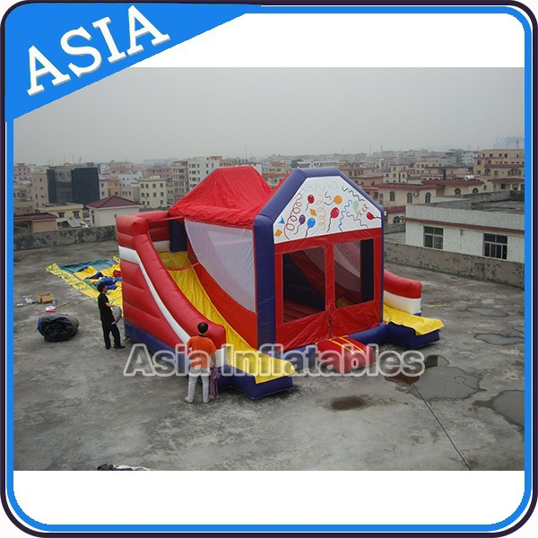 inflatable holiday bouncy castle/inflatable bounce and slide combo