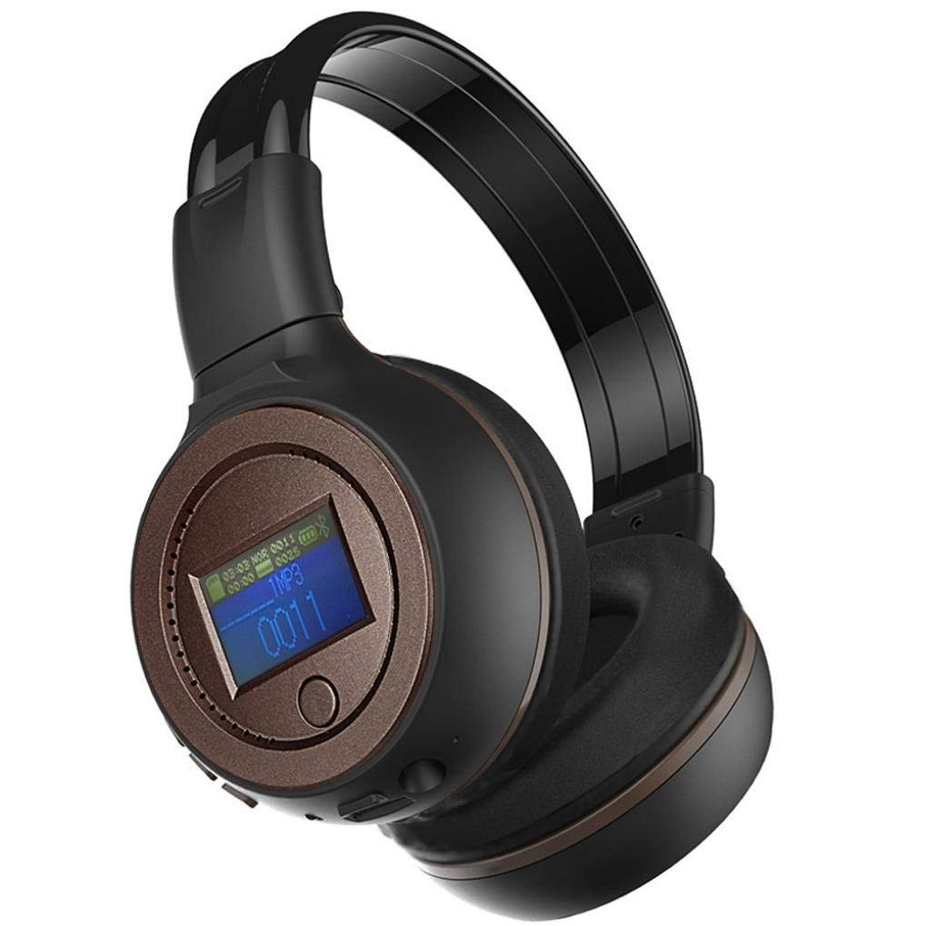 Wireless Headphone, Paymenow Bluetooth On-Ear Earphones Stereo Surround Sound Foldable Headset With Built-in Mic Supprot TF card / Mico-SD (Coffee)
