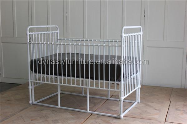 Inicio Loft Concepto Muebles Dormitorio Hierro Blanco Cuna - Buy ...